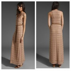 NWT Sanctuary Crochet Maxi Dress